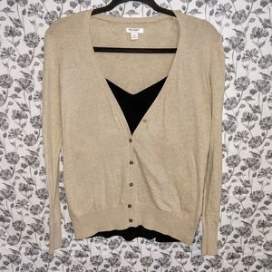 Old Navy- Beige/Button Up Long Sleeve Cardigan